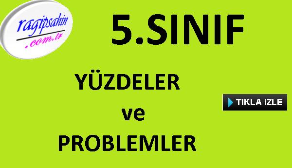 5.Sınıf Yüzdeler ve Yüzde Problemleri Soru Çözüm Videosu