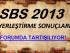 SBS 2013 YERLEŞTİRME SONUÇLARI
