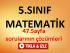 5.Sınıf Matematik 47.Sayfa Çözümleri