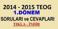 2014-2015 1.DÖNEM TEOG