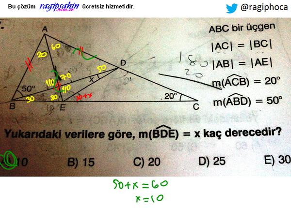 üçgenlerde açı